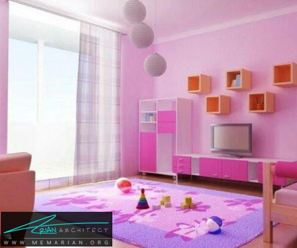فرش و قالی در دکوراسیون اتاق کودک دختر و پسر (1)