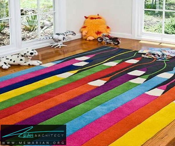 فرش و قالی در دکوراسیون اتاق کودک دختر و پسر (2)