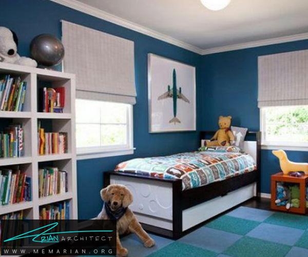 فرش و قالی در دکوراسیون اتاق کودک دختر و پسر (3)
