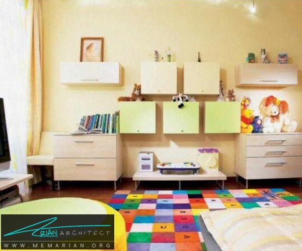 فرش و قالی در دکوراسیون اتاق کودک دختر و پسر (5)