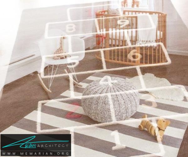 فرش و قالی در دکوراسیون اتاق کودک دختر و پسر (8)