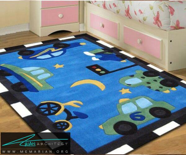 فرش و قالی در دکوراسیون اتاق کودک دختر و پسر (9)