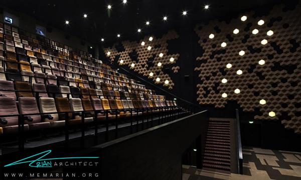 درطراحی داخلی سینما، چه مواردی در نظر گرفته می شود؟