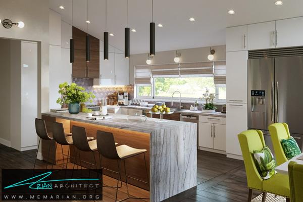 طراحی دکوراسیون داخلی جذاب و امروزی برای آشپزخانه