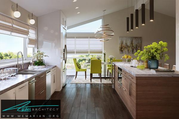 طراحی فضای داخلی آشپزخانه سوپر لوکس