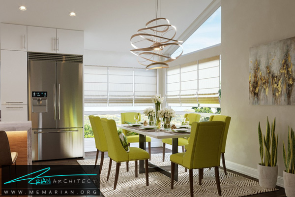 طراحی مدرن برای آشپزخانه به همراه نورگیر عالی