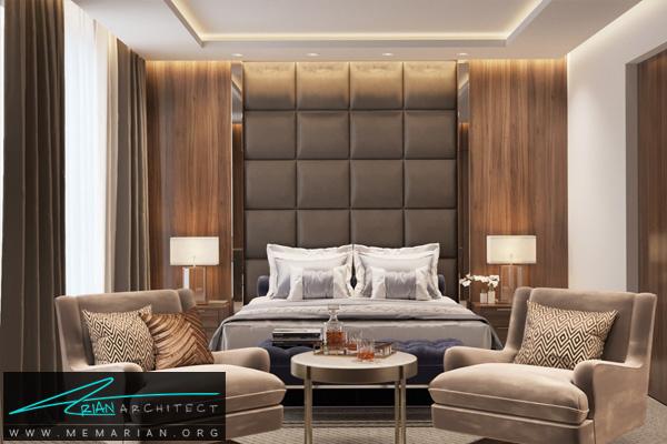طراحی فضای داخلی لاکچری و مدرن برای اتاق خواب (2)