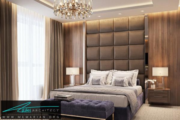 طراحی فضای داخلی لاکچری و مدرن برای اتاق خواب