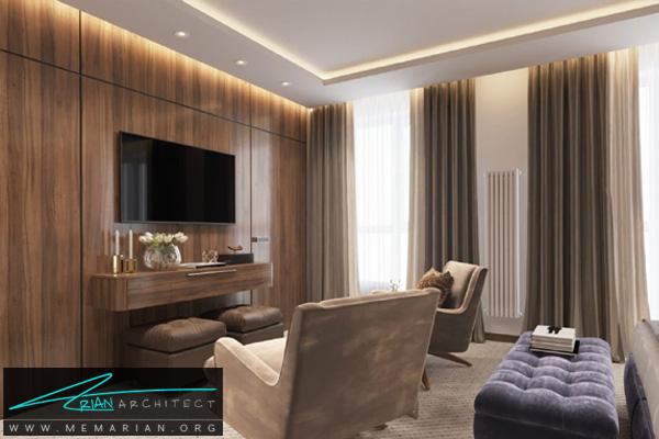 طراحی دکوراسیون مدرن اتاق تلویزیون