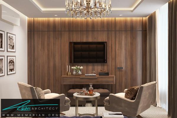 طراحی مدرن و مینیمال برای هال پذیرایی، آشپزخانه، اتاق خواب