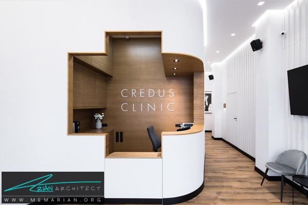 طراحی داخلی با کلاس و لاکچری برای مطب دندانپزشکی CREDUS در لهستان