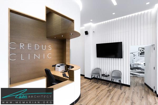 طراحی دکوراسیون لوکس و جذاب برای مطب دندانپزشکی CREDUS