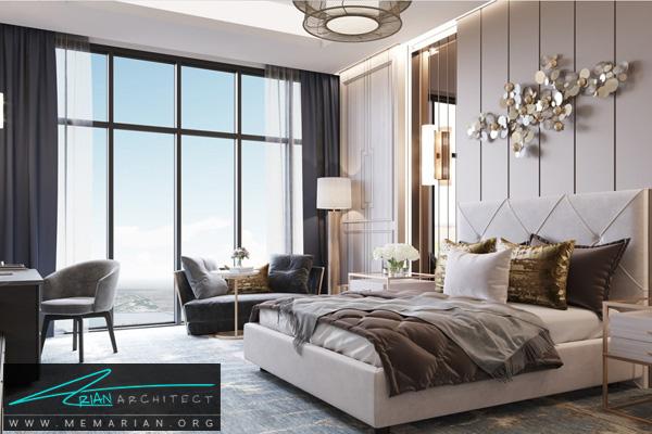 طراحی فضای داخلی مدرن و مینیمال برای اتاق خواب و تخت خواب