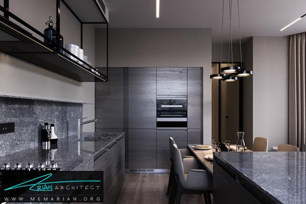 دکوراسیون داخلی آشپزخانه جذاب و مدرن
