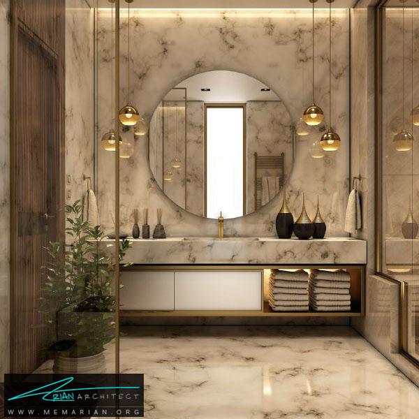 طراحی مدرن و فوق العاده جذاب برای سرویس بهداشتی با ترکیب رنگ سفید و کرِم (4)