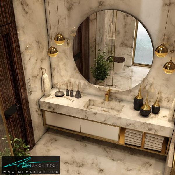 طراحی مدرن و فوق العاده جذاب برای سرویس بهداشتی با ترکیب رنگ سفید و کرِم (3)
