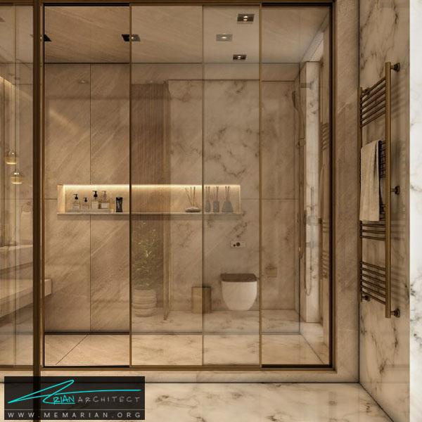 طراحی مدرن و فوق العاده جذاب برای سرویس بهداشتی با ترکیب رنگ سفید و کرِم (2)