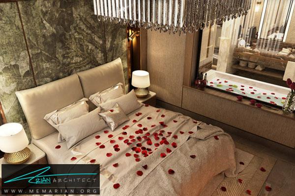 طراحی دکوراسیون مدرن و عاشقانه برای اتاق خواب (2)