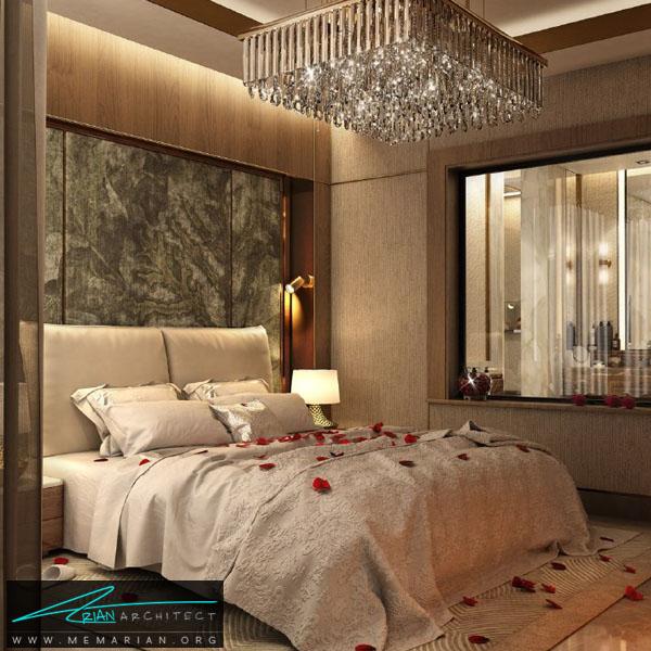 طراحی دکوراسیون مدرن و لوکس برای اتاق خواب مَستر (2)