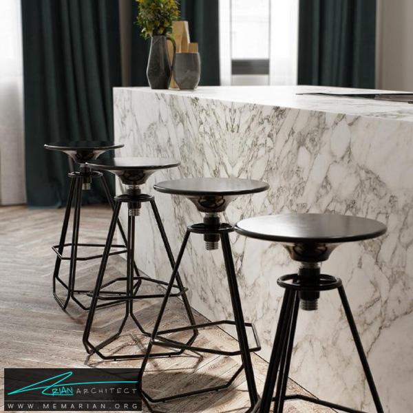 طراحی سوپر مدرن و لوکس برای آشپزخانه با میز جزیره