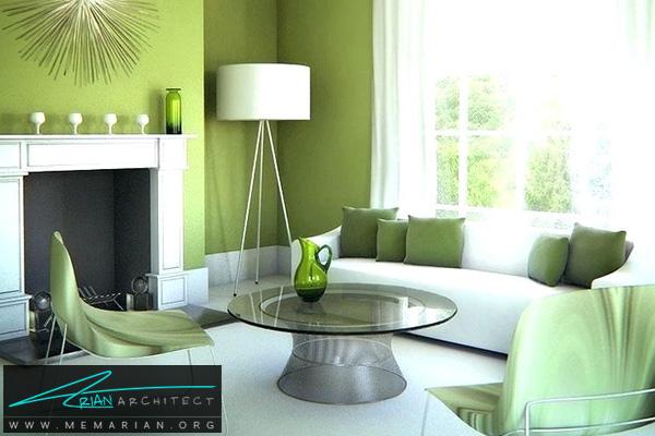 تاثیر رنگ در دکوراسیون - دکوراسیون رنگ سبز زیتونی