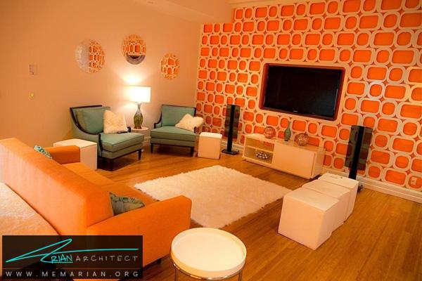 تاثیر رنگ در دکوراسیون - دکوراسیون رنگ نارنجی