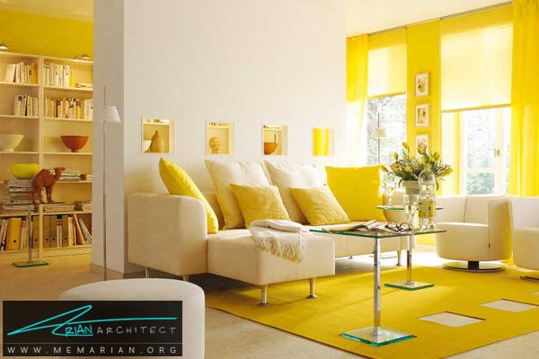 تاثیر رنگ در دکوراسیون - دکوراسیون رنگ زرد