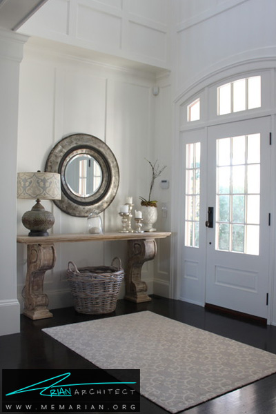 استفاده از آینه دردکوراسیون ورودی خانه -دکوراسیون ورودی خانه