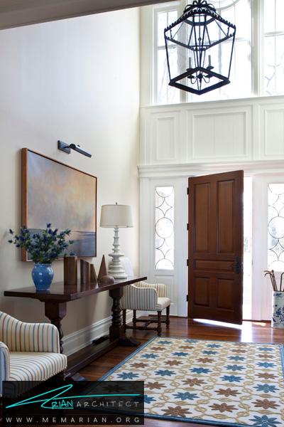 قرار دادن جاکفشی در ورودی خانه -دکوراسیون ورودی خانه