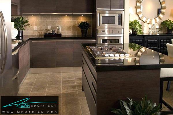 دکوراسیون آشپزخانه با کابینت های تیره رنگ - دکوتراپی آشپزخانه