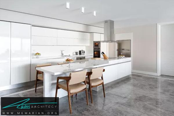 دکوراسیون آشپزخانه مدرن و خلوت - دکوتراپی آشپزخانه