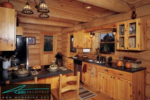 دکوراسیون آشپزخانه چوبی - دکوتراپی آشپزخانه
