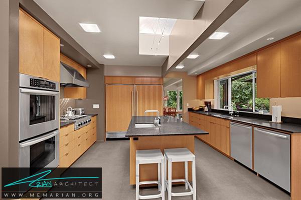دکوراسیون آشپزخانه چوبی و استیل - دکوتراپی آشپزخانه
