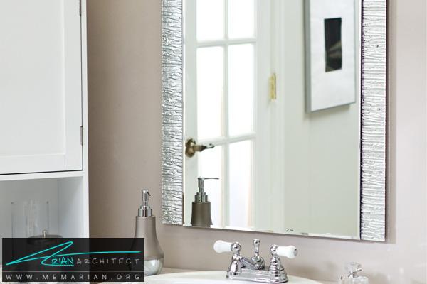 دکوراسیون آینه مدرن در سرویس بهداشتی