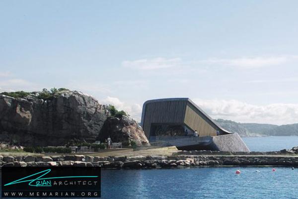نمای بیرونی رستوران زیر آبی