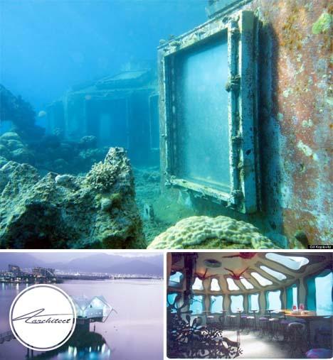 رستوران غرق شده در اسرائیل -معماری زیر آب