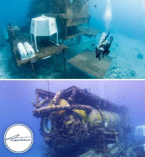 پایگاه تحقیقاتی در فلوریدا- معماری زیر آب
