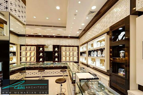طراحی اختصاصی دکوراسیون جواهر فروشی (1)