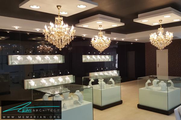 طراحی فضای داخلی طلا فروشی (1)