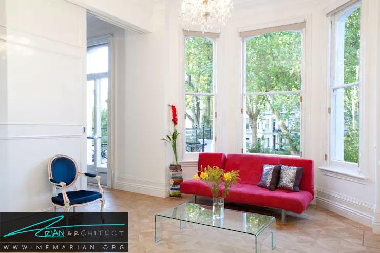 دکوراسیون اتاق پذیرایی - اندازه مبلمان و صندلی ها