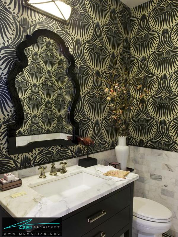 اتاق سرویس بهداشتی کوچک و کاربردی -دکوراسیون حمام 2018