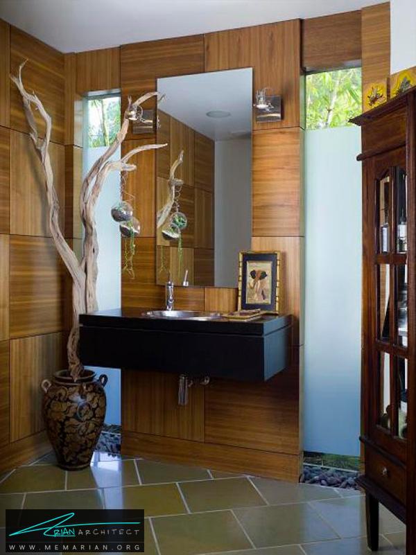 طراحی دکوراسیون حمامی متفاوت توسط لوری دنیس -دکوراسیون حمام 2018