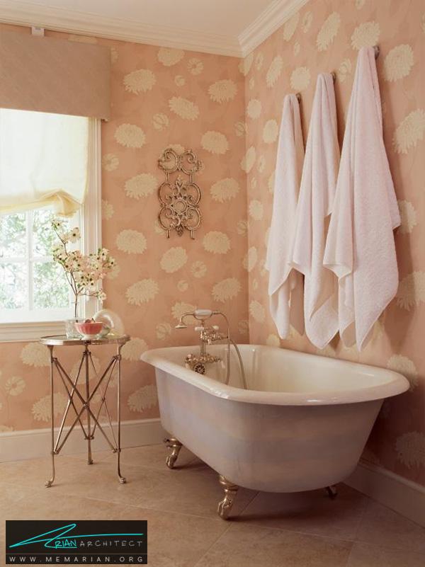 دکوراسیون حمام دخترانه با رنگ پایه صورتی -دکوراسیون حمام 2018
