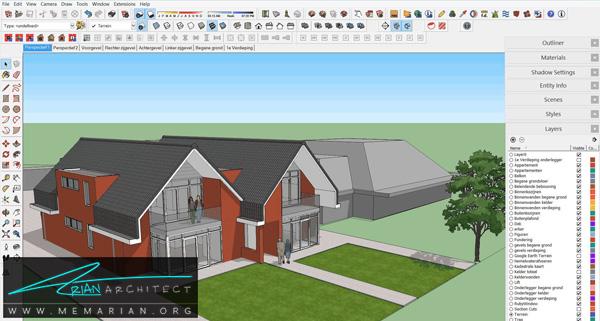 بهترین نرم افزارهای معماری -(2) SketchUp