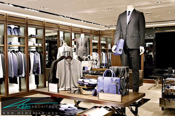 دکوراسیون فروشگاه پوشاک مردانه