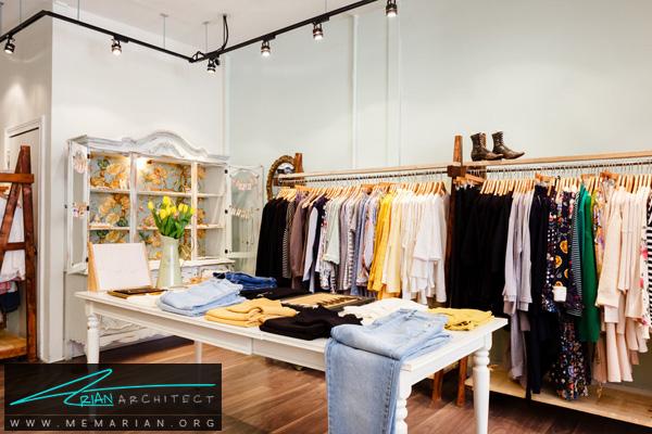قفسه بندی در دکوراسیون فروشگاه پوشاک