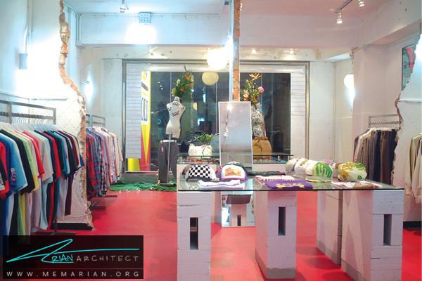 طراحی دکوراسیون فروشگاه پوشاک