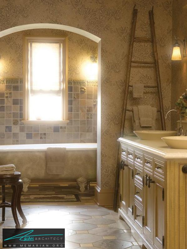 حمام سنتی با وان اختصاصی -تزیین دکوراسیون حمام