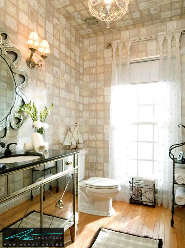 حمام الهام گرفته از هالیوود -تزیین دکوراسیون حمام