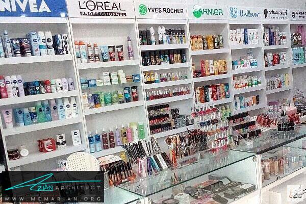 طراحی دکوراسیون مغازه لوازم آرایشی بهداشتی (1)
